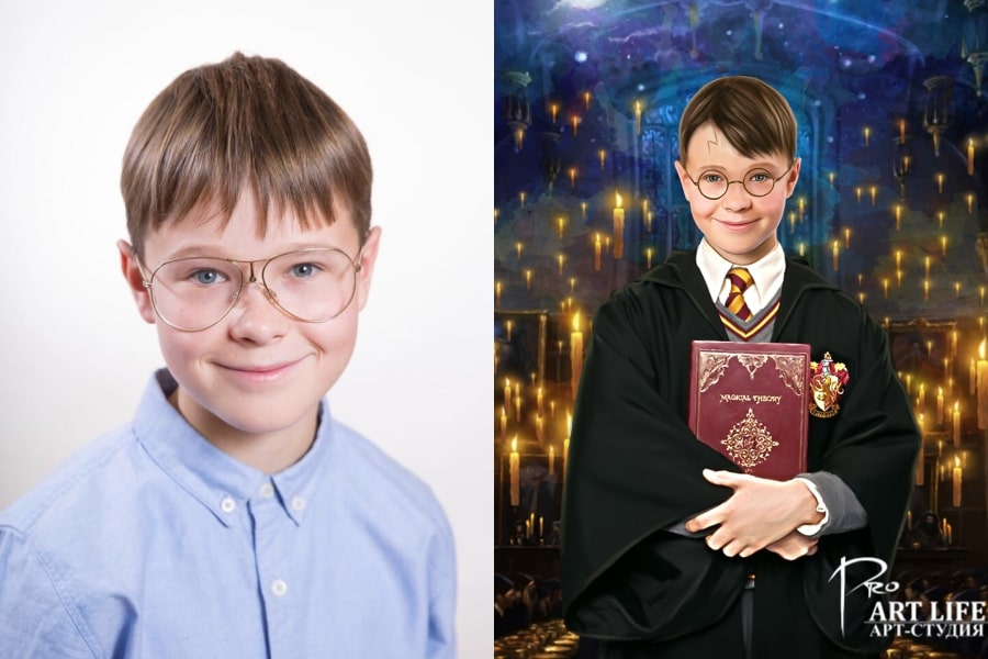Портрет в образе Гарри Поттера