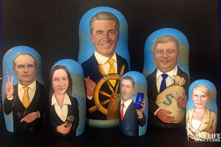 Матрешки с портретом для руководителей