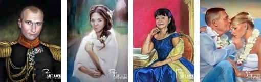 Цены на портрет пастелью