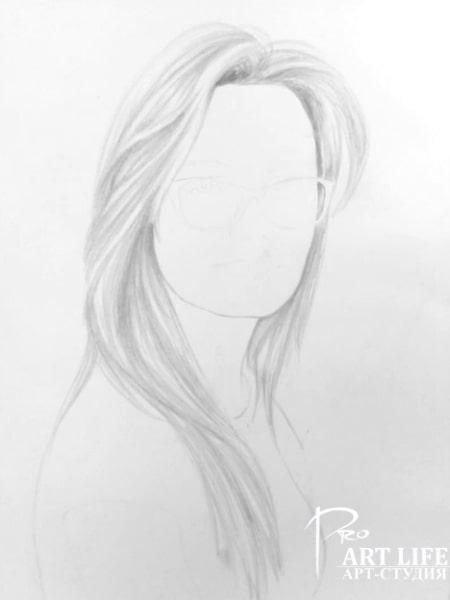 Портрет карандашом эскиз